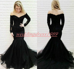 New fashioN special occasioN dresses online shopping - New Arrival Lace Plus Size Arabic Evening Dresses Mermaid Long Sleeve Sequins African Party Formal Special Occasion Pageant Gowns Prom Dress