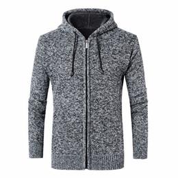 $enCountryForm.capitalKeyWord Australia - Mens Sweaters Thick Warm Winter Zipper Pullover Cashmere Wool Sweaters Man Casual Knitwear Fleece Velvet Clothing Big Size