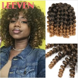 $enCountryForm.capitalKeyWord Australia - 8'' 20strands Jumpy Wand Curl Jamaican Bounce Synthetic Braiding Hair Extension Crochet Braid Kanekalon HairFor Woman