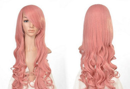 hot pink curly wig NZ - WIG ZCD HOT Free >>>Women Fashion Heat Resistant Long Curly Hair Cosplay Costume Pink Full Wig