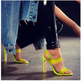 Woman Fans Australia - Sexy2019 Shoeswomanwish European Fan Tangguo Colour System Foreign Will Women's Shoes High With Sandals