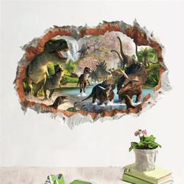$enCountryForm.capitalKeyWord Australia - Jurassic Park dinosaur wall stickers for kids rooms bedroom home decor 3d vivid wall decals pvc mural art diy poster D19011702