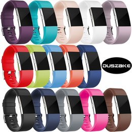 fitbit wristband straps UK - DUSZAKE Accessories For Fitbit Charge 2 Band Replacement Bracelet Strap For Fitbit Charge 2 Band Wristband