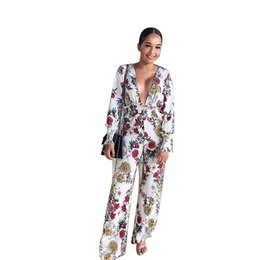 $enCountryForm.capitalKeyWord UK - Contrast Color Print Women Jumpsuits Full Sleeve Deep V Neck High Waist Spring Party Outfits Fashion Lady Jumpsuits H9505