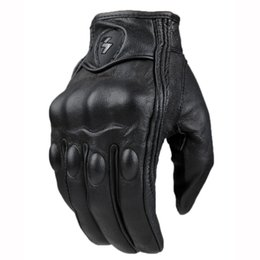 $enCountryForm.capitalKeyWord Australia - Retro Perforated And No Perforated Leather Motorcycle Gloves Outdoor Cycling Bike Motorbike Protective Gears Motocross Glove MX190817