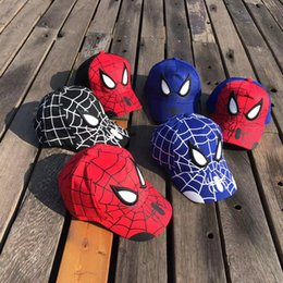 5d2972fb3f6 Korean version of the baseball cap children s caps Man Wei anime baby hat  outdoor cartoon spider man visor curved sports hat wholesale