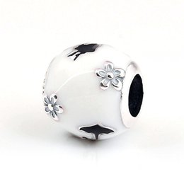 Silhouette Charm Australia - New charms European style jewelry S925 silver fits for pandora style bracelet Mary Poppins Silhouette charm 797510ENMX H8