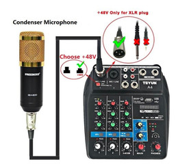 $enCountryForm.capitalKeyWord Australia - Portable Mini 4 Channels Digital Audio Interface Mixer TU04 Console with USB Bluetooth for Home Studio PC Computer Condenser Microphone