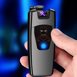 $enCountryForm.capitalKeyWord Australia - Car Cool Colorful USB Charging Double ARC Lighter Fingerprint Sensing Portable Innovative Design For Cigarette Smoking Pipe Tool DHL