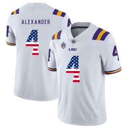 College Football Flags Australia - Mens Custom Kwon Alexander Football Jersey LSU Tigers USA Flag Fashion High Quality Stitched College American Football Jerseys