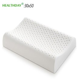 latex beds Australia - Natural Latex Breathable Orthopedic Neck Pillow Soft Slow Rebound Soft Safe Protects Cervical Health Care Bedding Pillow