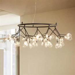 $enCountryForm.capitalKeyWord Australia - Modern Led Glass Lampshade Chandelier Lighting Round Design G4 Lustre Pendant Lamps For Living Room Kitchen Hanglamp Luminaire