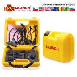 Software Repair Box Australia - Launch X431 Diagun IV yellow case with full set cables yellow box full adapters for x 431 Diagun IV DHL free shipping