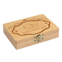 $enCountryForm.capitalKeyWord UK - Wooden Kids Baby Milk Teeth Box Organizer Wood Storage Baby Tooth Box For Boy Girl Save Teeth Gift
