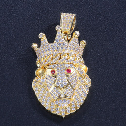 $enCountryForm.capitalKeyWord Australia - New Arrivals Hip Hop Plated Lion Head dog Head Pendant Men Necklace King Crown Iced Out Fashion Jewelry For Gift Present