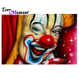 Clown Paintings Australia - wholesale Clown Diamond Painting Handmade Full Square Drill Picture Mosaic Diamond Embroidery Home Decoration Stones S2F1334