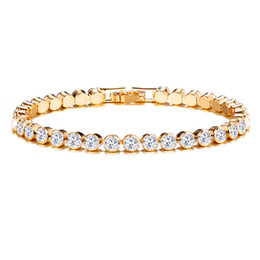 $enCountryForm.capitalKeyWord NZ - Exquisite Austrian Crystal Bracelets For Women Charm Rose Gold Silver Bracelets & Bangles Lady Bridal Wedding Fine Jewelry Gift