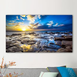 painting sea ocean Australia - 1 Panel Sea Ocean Beach Canvas Painting Landscape Posters And Prints Poster Home Decor Wall Art Pictures For Living Room No Frame