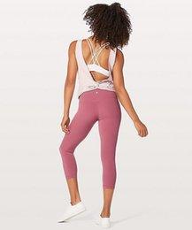 Venta al por mayor de 2020 diseñadorlululemonlululu lu polainas pantalones de yoga de limón 32 016 25 78 mujeres deportes entrenamiento sin costuras de color rosa camo yogaworlb410 #
