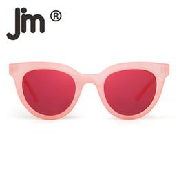 Mirror Tint Sunglasses NZ - JM Round Cat Eye Fashion Mirror Sunglasses Transparent Tinted Candy Sun Glasses Thick Eyeglasses for Women