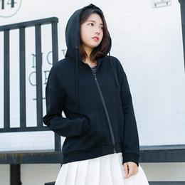 $enCountryForm.capitalKeyWord Australia - 2019 gym Spring and fall hoodie cardigan hoodie Korean version loose embroidery pocket short female zipper fashion