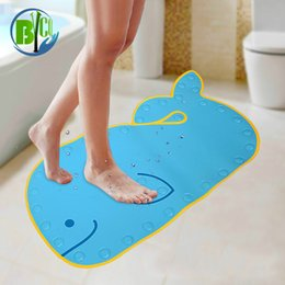 Discount dolphins decorations - Cute Dolphin Shaped Bath Mats Soft Pats Anti Slip Home Bathroom Carpet Decoration Bath Toilet Accessories 40*70cm