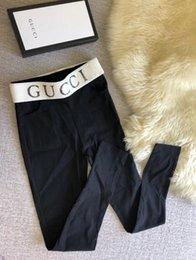 Venta al por mayor de Diseño de marca G Letra F Mujeres Sexy Leggings Deportivos Chica Flaco Pantalones Elásticos Hot Tight Fitting Elástico Slim Fitness pantalones lápiz