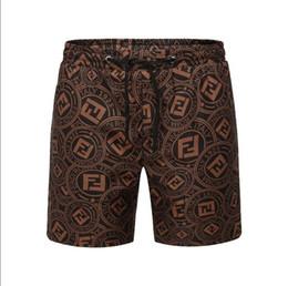 Air Pants Australia - Fashion Shorts Men Summer 2019 Fast drying Air permeable Drawstring Sports Shorts Pants Footprint Summer Beach Men Cloth #6905