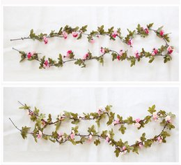 $enCountryForm.capitalKeyWord UK - 230cm Wedding Decorations Fake Silk Roses Ivy Vine Artificial Flowers With Green Leaves Hanging Garland For Home Decor Wholesale