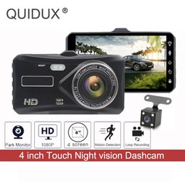"$enCountryForm.capitalKeyWord Australia - QUIDUX 4"" Car DVR Touch Screen Dual Lens Front + Rear Car Dashcam Cameras 1080P 170 Degree Video Recorder Parking Assistance"