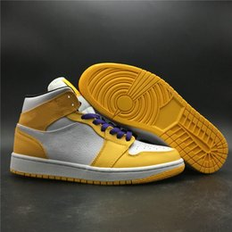 $enCountryForm.capitalKeyWord NZ - Special Edition 1 Mid Mens Basketball Designer Shoes Cheap Hot I University Gold Black White Purple Womens Fashion Sneakers Best Quality