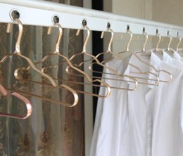 Household Alloys Australia - DHL aluminum hanger aluminum alloy no trace clothing support household home anti-skid clothes hanging windproof rust proof rack 41*19CM