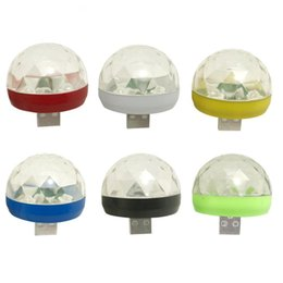 $enCountryForm.capitalKeyWord Australia - USB Charge Disco Light LED Party Lights Mini Crystal Magic Ball Colorful Effect Stage Lamp For Home Party New Year Decor