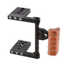Steadicam Camera Dslr Australia - Freeshipping Camera De Fotos DSLR Video Camera Cage With Wooden Handle DSLR Camera Cage Rig Steadicam For Canon Nikon Sony C1392