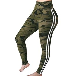 HigH waist camo pants online shopping - Army Green Litthing Women High Waist Camouflage Pants Fashion Pantalon Femme Trouser Ankle Length Sweatpants Cotton Streetwear Camo Pants