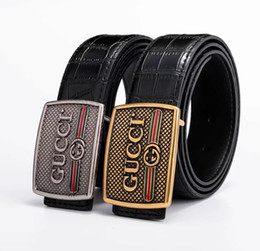 tiger head belt UK - Brand designer belt mens senior tiger head belts new fashion casual cowhide belts for men waist belts