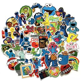 sesame toys NZ - 50 Pcs American Animation Sesame Street Cartoon Other Toys Sticker For Bike Motorcycle Phone Laptop Luggage Funny Sticker Bomb Decals F3