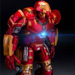 $enCountryForm.capitalKeyWord Australia - Avengers 2 Iron Man Hulkbuster Armor Joints Movable 18CM Mark With LED Light PVC Action Figure Collection Model Toy #E