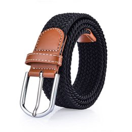 Elastic Boys Belts NZ - Fashion Elastic Woven Belts Fashion Hip Hop Waistbands Mens Womens Luxury Waist Straps High Quality Adults Ceinture Casual Jeans Belt
