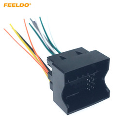 aftermarket stereo harness Australia - FEELDO Car Radio Audio Stereo Interface Wire Harness for Volkswagen Golf 7 Sokda Installing Aftermarket CD DVD Plug Wire Adapter #3175