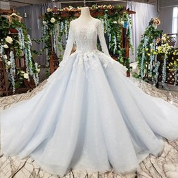Sequin Art Patterns Australia - 2019 Summer Luxury Evening Dresses Long Tulle Sleeve Illusion O Neck Open Keyhole Lace Up Back Sequins Applique Pattern Bridal Gowns Garden