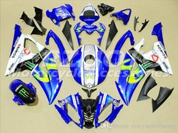 R6 White Blue Australia - 4 Free Gifts New Injection ABS Fairing kits 100% Fit for YAMAHA YZFR6 08 09 10 11 12 13 14 15 YZF R6 2008-2015 YZF600 set Blue White CW