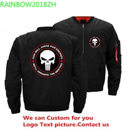 $enCountryForm.capitalKeyWord Australia - 2019 Punisher Skull Black Bomber Jacket Men Streetwear Brand-clothing Warm Jackets Men's Military Aviator Clothing