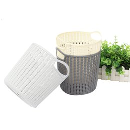 clothes bucket NZ - Round Storage Basket with Handle Debris Clothes Bucket Toys Books Organizer Plastic Organizer
