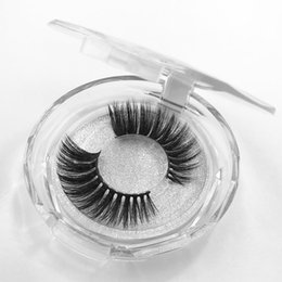fiber grade NZ - 36style Factory price 3D false eyelashes Europe and the United States thick exaggerated new fake eyelashes high-grade fiber round box