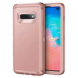 Chinese  For Samsung S10 Plus Defender Case 3in1 Layer Shockproof Full-Body Rugged Hard PC Soft TPU Protection Cover For Galaxy S10 S10E manufacturers