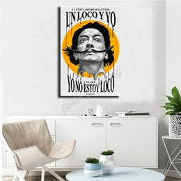 artists abstract figures NZ - Artist Salvador Dali Portrait HD Wall Art Canvas Posters Prints Painting Wall Pictures For Office Living Room Home Decor Artwork