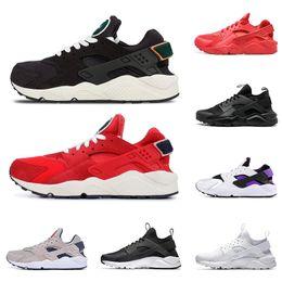check out 40dfc fcbf0 air Huarache Ultra Run chaussures triple blanc noir hommes femmes Chaussures  de course rouge gris Huaraches sport Chaussure Hommes Femmes Sneakers nous  5.5- ...