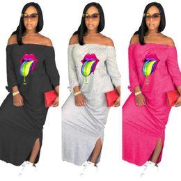 $enCountryForm.capitalKeyWord NZ - women designer Ankle-length skirt long sleeve one piece dress high quality skinny dress sexy elegant luxury fashion off shoulder skirt 1801