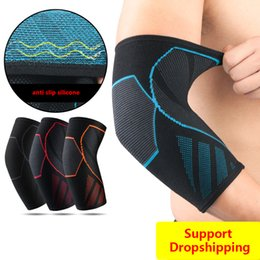 $enCountryForm.capitalKeyWord Australia - New Knitting Elbow Support Elastic Gym Sport Elbow Protective Pad Absorb Sweat Sport Basketball Training Arm Sleeve Brace
